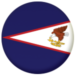 American Samoa Country Flag 58mm Button Badge